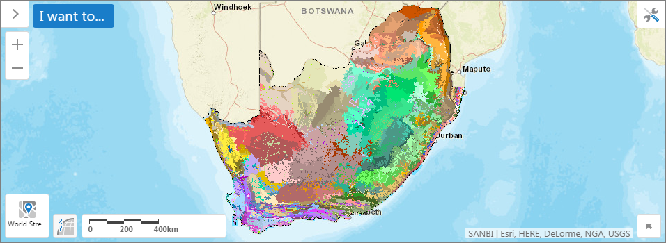 Vegetation Map of South Africa